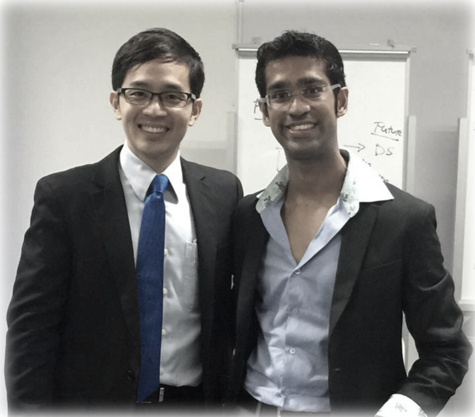 Jacky and his student Hitesh Ramchandani who is now the region's most promising young motivation speaker